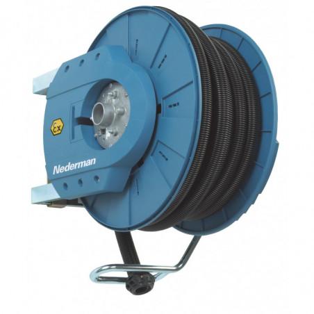 Enrouleur aspiration ATEX 881 Ex pour 10 m 38/50mm Ex-bleu-Ned