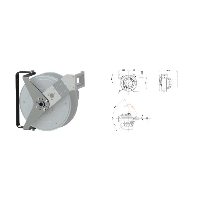 Enrouleur industriel cable electrique 4g2 5 15m ip65 - Enrouleur cable electrique ...
